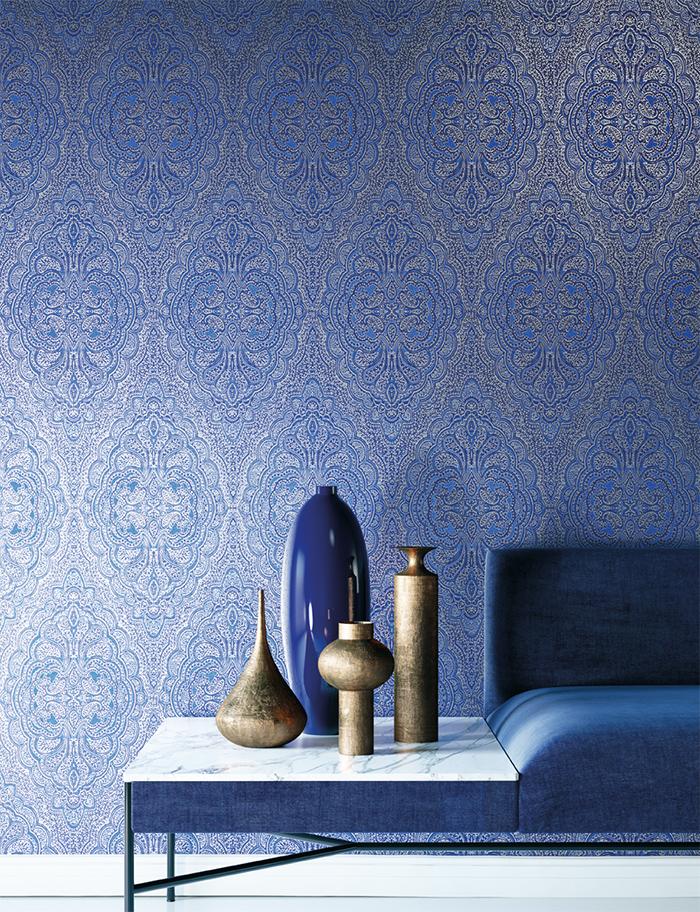papel-pintado-medallones-azul-de-khroma-coordonne-villalba-interiorismo