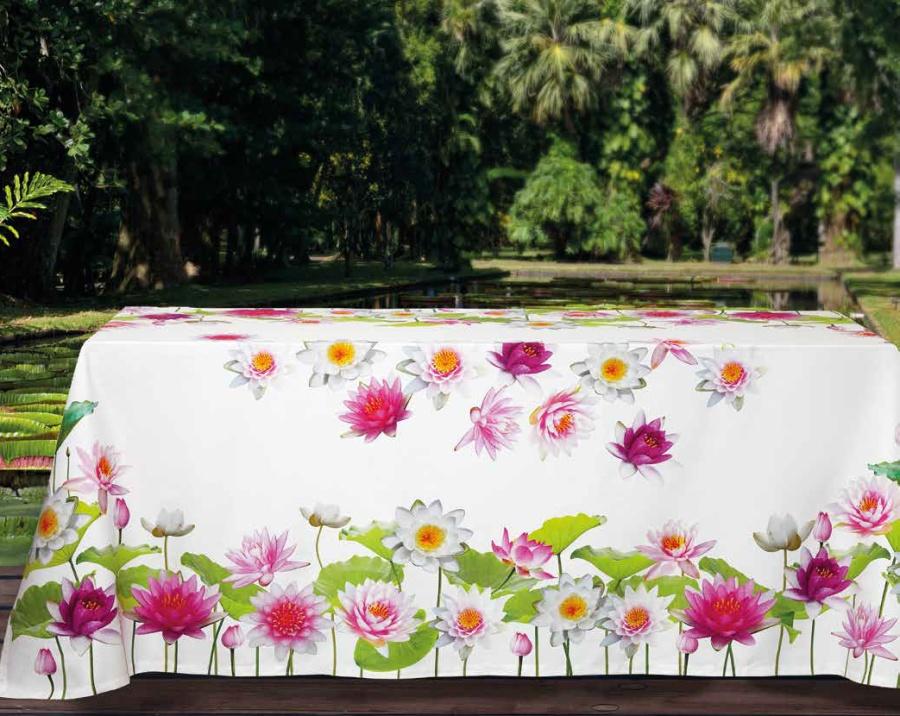 Mantel flores Ninfee - Villalba Interiorismo
