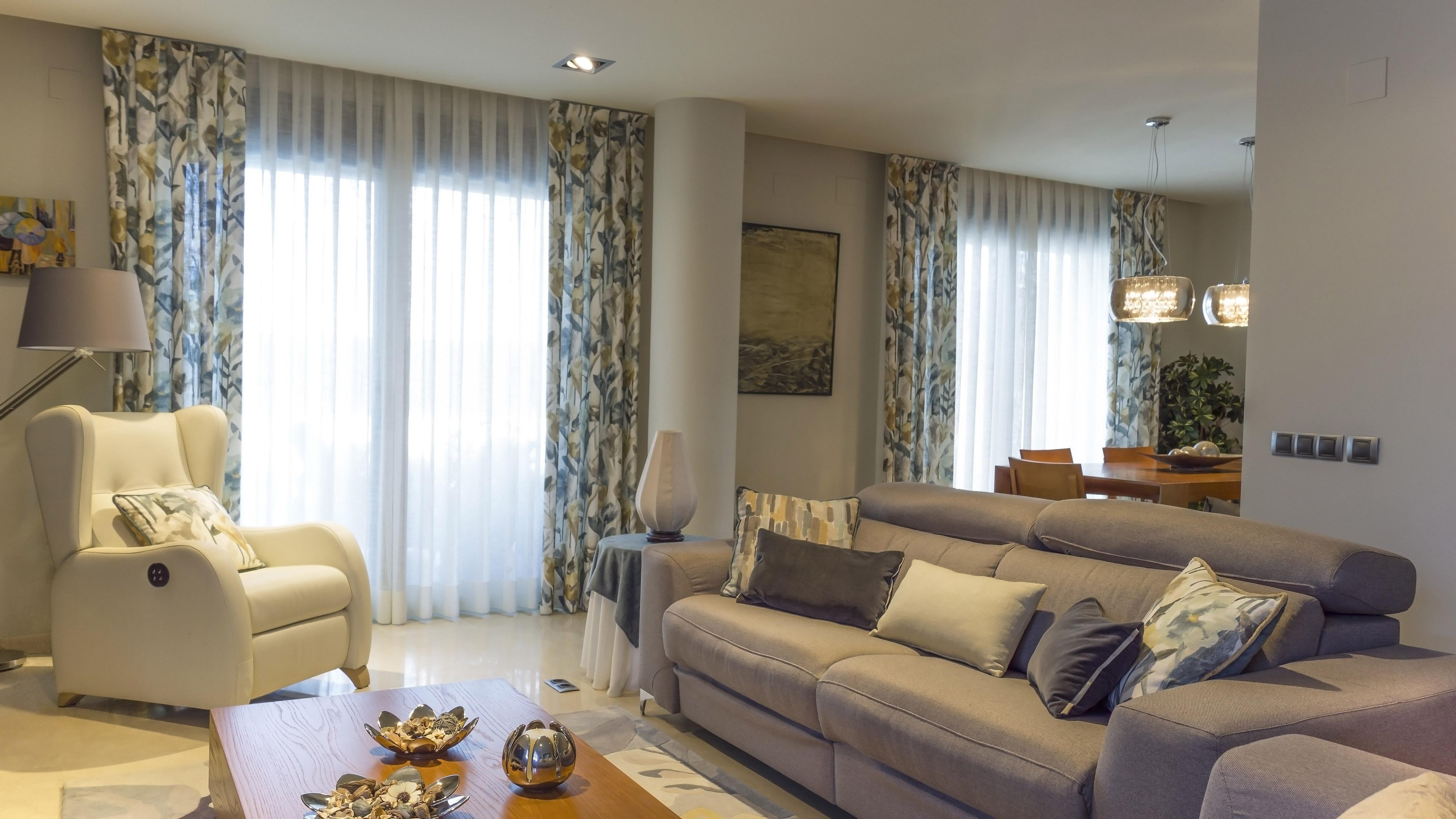 Cortinas estampadas para salon beautiful cortinas trmicas opacas estampadas para saln panel caf - Cortinas originales para salon ...