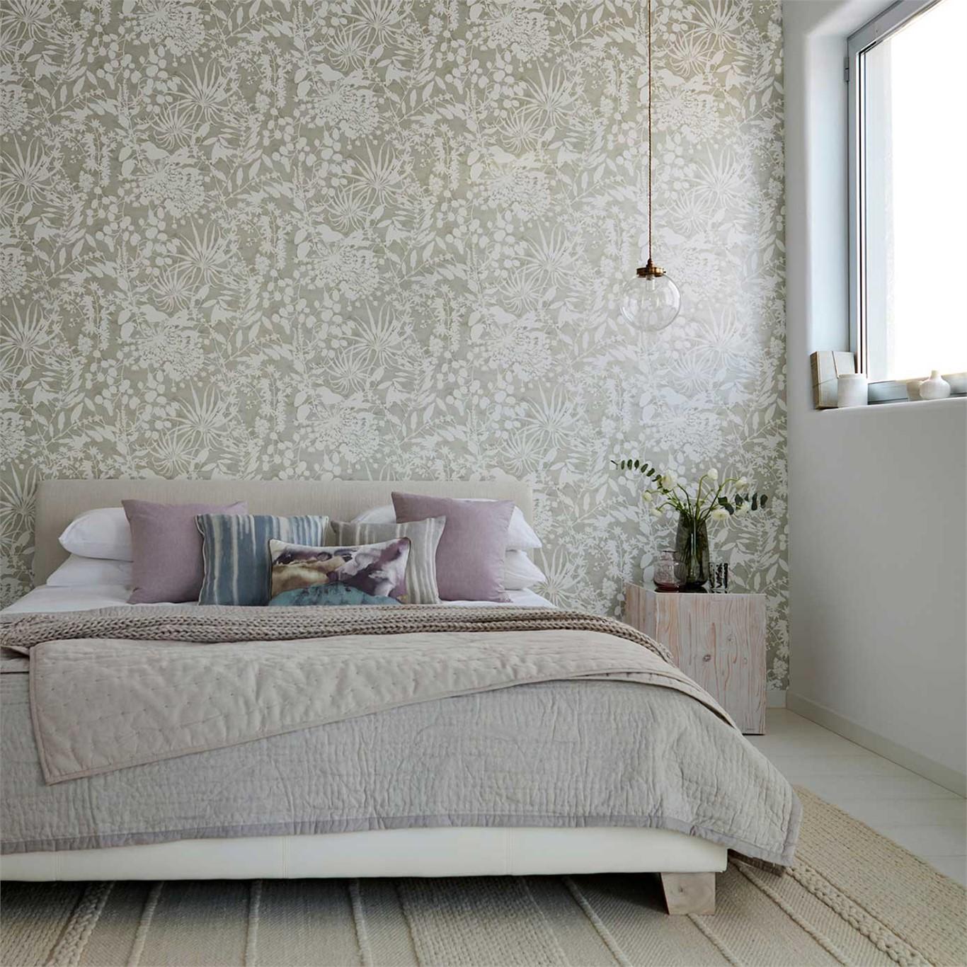 Dormitorios Decorados Con Papel Pintado Affordable Pared De