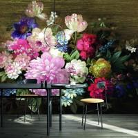 Impresionantes los murales de flores