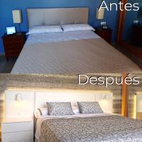 Antes y después del dormitorio de Clotilde